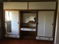Set of well made wardrobes with storage above A BARGAIN AT ONLY £50 FOR A QUICK SALE