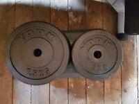 York 7.5kg (x4) & 5kg (x4) Iron Weight Discs