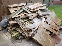 old wood fences panels
