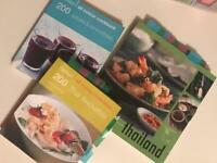 Thai food cook books and smoothie recipe book