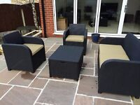 Rattan effect garden patio outdoor furniture set - NEVER USED, assembly required