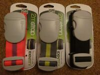 New Go Travel Secure Safe 2m Luggage Strap Solid and Bright Orange, Black, Grey/Lime holidays