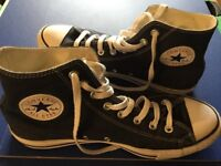 converse All Star blue jean high top trainers size 8:5 uk nearly new