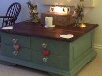 Laura Ashley Coffee Table with 8 draws