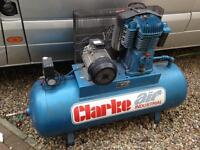 Clarke air 200L compressor 24cfm 3 phase
