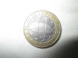 £2 - 2 pound ruby world cup 1999 circulated coin