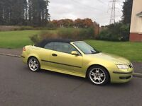 SAAB Convertible 2.0T Aero yellow with black roof (looks lime green) for sale in East Kilbride G75