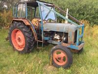 Fordson super major tractor with rear winch runs well