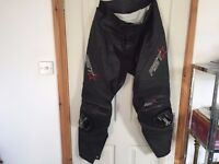 RST Leather Motorcycle Motorbike Trousers Black Regular size- 38
