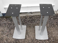 Mission speaker stands. Pair