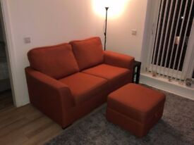Sofa and Storage footstool