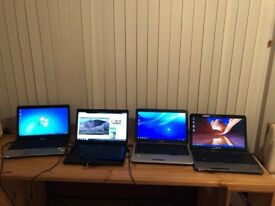 4 Laptops for sale in good working order