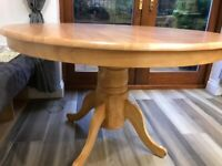 Solid Hardwood Round Table