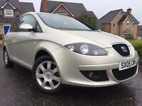 *3 MONTHS WARRANTY*2005(05)SEAT ALTEA STYLANCE TDI DIESEL(105BHP)WITH ONLY 61K FULL SERVICE RECORD*