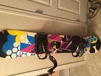 Ladies snowboard barely used