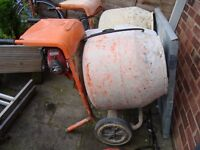 belle 150 petrol cement mixer with stand