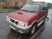 VERY LOW MILES 4X4 NISSAN TERANO II 2.7 DIESEL 7 SEATS FULL MOT WHEELS TOW BAR CHEAP P/EX WELCOME