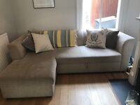 Fantastic Comfy Corner Sofa Bed with underbid storage