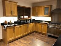 Solid oak and granite kitchen