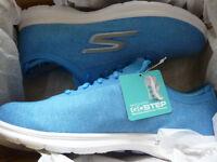 Skechers Gogmat Go Step Vital Blue Size 7 - Brand New & Boxed