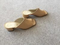 Ladies Italian Leather mules - Size 5