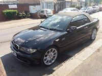 2.0 bmw diesel 2005 year 3 series convertible 86000 miles mot till 11/10/2017 history hpi clear
