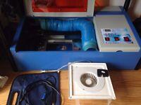 Laser Cutter Engraving Cutting Machine Laser Printer Engraver 40W CO2 USB