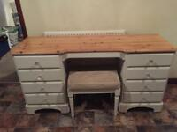 Ducal shabby chic dressing table and stool