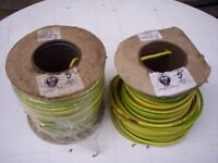 Earth Cable, 1 full 50m reel and 1 part 50m reel