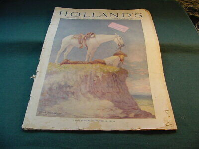 September 1923 Holland's Magazine Cowboy & Horse Cover by Alfred James Dewey
