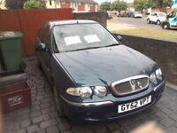 For sale rover 45 . not bad condition for age , a good runner . mot till dec