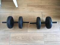 BARGAIN. DUMBBELL WEIGHTS BOXED