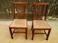 Two Matching Solid Wood Dining Chairs