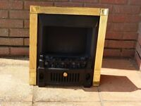 Coal effect electric fire.