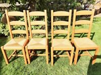Ladder Back Dining Chairs - Set of 4