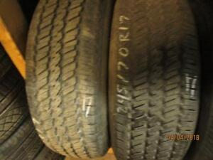 P245/70R17 2 0NLY USED GENERAL A/S TIRES