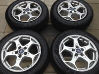 "Ford Focus mondeo transit connect 16"" alloy wheels all very good tyres"