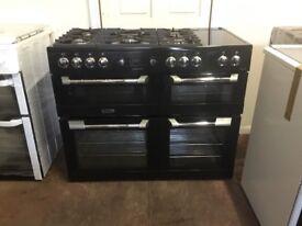 Leisure range dual fuel gas cooker CS110F722K 110CM GRADED black 3 months warranty free local delive