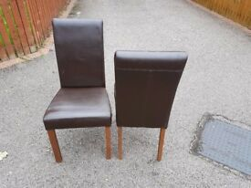 2 Willis & Gambier Leather Chairs FREE DELIVERY 842
