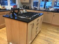 Kitchen units - Inc island with granite worktop - happy to sell individual items