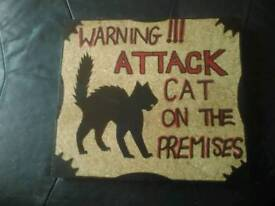 Silly handmade wood signs