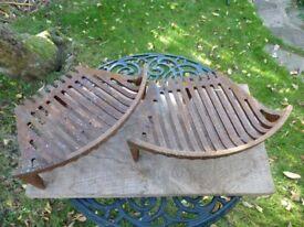"2 x 16"" cast iron fire grates; 20"" fire place lintel; and metal damper housing plate (12"")"