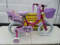 Raleigh Molly Girls Bike Brand New Unused Fully Built Ex Display 14 Inch Wheel