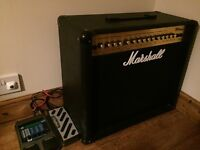 Marshall MG100DFX Amp and Digitech Effects Pedal