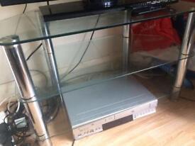 Glass tv cabinet