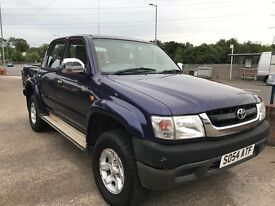 Toyota Hi-lux, Double Cab, 54-reg, 280Vx, Blue. Alloys, 150k with some history, Mot 05/09/17.