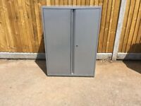 Metal 2 door filing cupboard