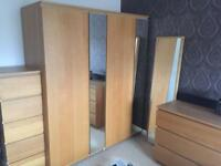 Ikea Malm oak bedroom furniture - can split up