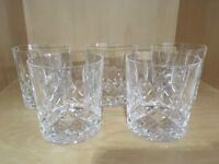 Large Crystal Tumber Glasses x 5