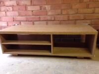 TV unit. 110cm wide, 40cm deep and 34cm high. Perfect for flat screen TVs of all sizes.